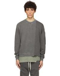 John Elliott Black Reconstructed Vintage Crew Sweatshirt - Grey