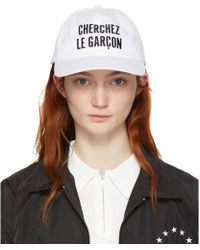 Etudes Studio - White Orly Cherchez Le Garcon Cap - Lyst