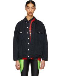 Martine Rose - Black Oversized Denim Jacket - Lyst