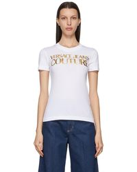 Versace Jeans Couture ホワイト Institutional ロゴ T シャツ