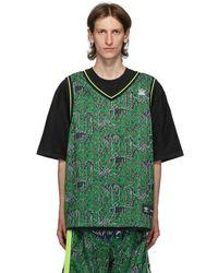 Sankuanz Adidas Originals Edition リバーシブル ブラック And グリーン Gore Halp T シャツ
