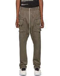 Rick Owens Drkshdw Gray Creatch Cargo Pants