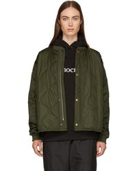 6397 - Green Quilted Nylon Bomber Jacket - Lyst
