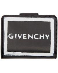 Givenchy - Black Graffiti Compact Wallet - Lyst