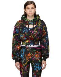 Versace Jeans Couture ブラック Regalia Baroque フーディ