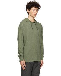Rag & Bone Pull à capuche Carded Flame vert en coton