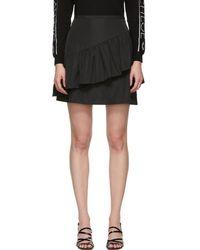 See By Chloé - Black Taffeta Ruffle Miniskirt - Lyst