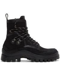 DSquared² - Black Canvas Hiker Boots - Lyst