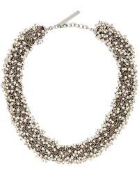 Dries Van Noten Beaded Necklace - Metallic