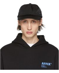 Affix Ssense 限定 ブラック New Utility キャップ