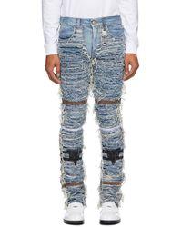 1017 ALYX 9SM Blackmeans Edition ブルー 6 ポケット ジーンズ