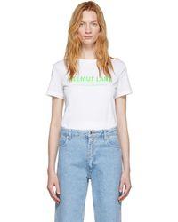 Helmut Lang T-shirt a logo blanc Baby