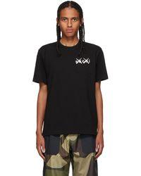 Sacai Kaws エディション ブラック T シャツ