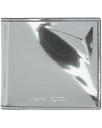 Alexander McQueen - Silver Mirrored Star Bifold Wallet - Lyst