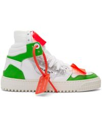 Off-White c/o Virgil Abloh - White And Green 3.0 Off-court Sneakers - Lyst
