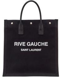 Saint Laurent ブラック Rive Gauche ショッピング トート