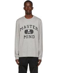 Mastermind Japan グレー ロング スリーブ T シャツ