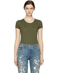 Rag & Bone - Green Lilies T-shirt - Lyst