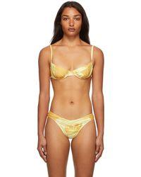 Miaou Haut de bikini bambi à motif graphique - Multicolore
