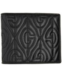 Gucci - Black Quilted GG Wallet - Lyst