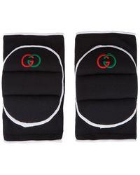 Gucci Black Logo Knee Pads
