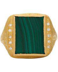 Elhanati Gold Vvs Diamond Roxy Signature Ring - Metallic
