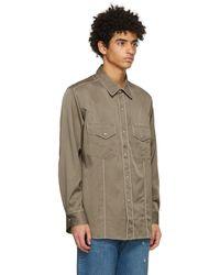 Nicholas Daley Khaki Western Shirt - Natural