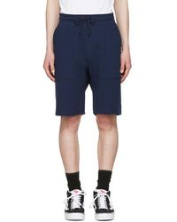 Noah - Navy Solid Lounge Shorts - Lyst