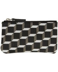 Pierre Hardy - Black And White Cube Perspective Coin Pouch - Lyst