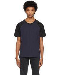 Courreges & Black Logo T-shirt - Blue