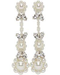 Simone Rocha Off-white Victorian Earrings