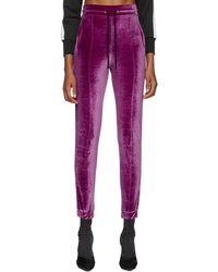 Marcelo Burlon - Purple Logo Tape Lounge Pants - Lyst