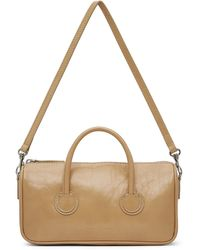 Marge Sherwood Petit sac beige froissé à glissière - Neutre