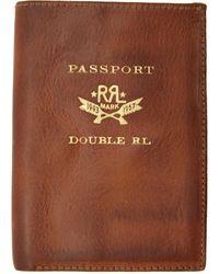 RRL ブラウン レザー パスポート ホルダー