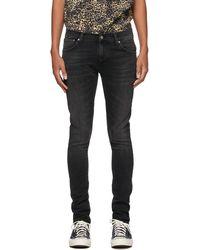 Nudie Jeans ブラック Tight Terry ジーンズ