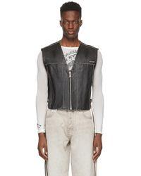 Eytys Black Leather Harper Vest
