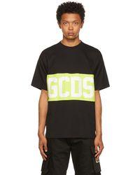 Gcds ブラック & グリーン Band ロゴ T シャツ