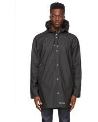 Stutterheim Black Lightweight Stockholm Raincoat