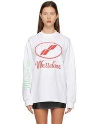 we11done Logo Long Sleeve T-shirt - White