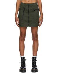 McQ Green Military Pocket Skirt
