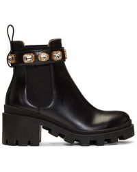 Gucci GG Crystal Boots - Black