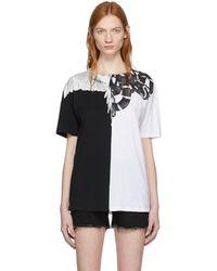 Marcelo Burlon - White And Black Snake Wing T-shirt - Lyst