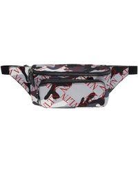 Valentino - Grey Garavani Vltn Grid Belt Bag - Lyst