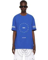 Hood By Air T-shirt Stars bleu 'Veteran'