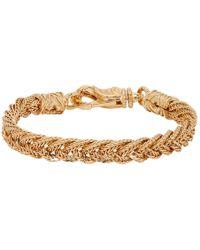 Emanuele Bicocchi Gold Flat Braided Bracelet