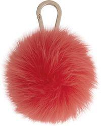 Yves Salomon Red Fox Fur Keychain