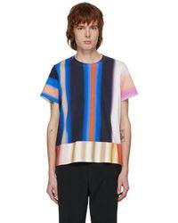 Mugler Multicolour Rainbow Logo T-shirt - Blue