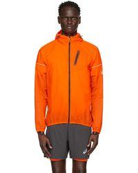 Asics Orange Fujitrail Jacket