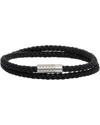 BOSS by Hugo Boss Black Double-wrapped Monogrammed Bracelet