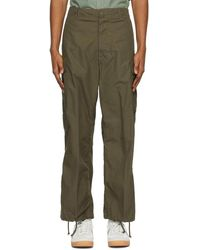 Beams Plus Khaki Military 6-pocket Cargo Trousers - Green
